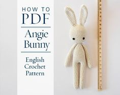 crochet pattern, Angie bunny, step by step US terms DIY pattern ready to download by CrochetObjet by CrochetObjet on Etsy https://www.etsy.com/listing/263276112/crochet-pattern-angie-bunny-step-by-step