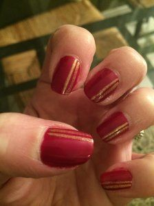 #nailart Tenue Rouge et d'Or #nail #nails #manicure #red #rouge #or #gold #www.belledesnails.fr