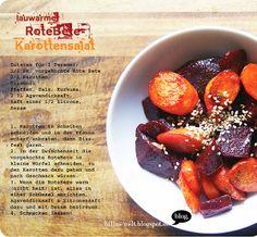 Billa kämpft mit allerlei bunt gegen das Herbstgrau und bringt uns einen lauwarmen Rote-Bete-Karottensalat mit