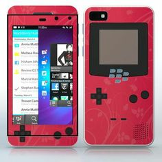 Strawberry Video Game Designer Device Flowered video game device pattern phone skin sticker for Cell Phones / Blackberry Z10 | $7.95