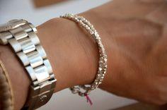 Vivien Frank Faceted nugget wrap bracelet