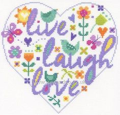 Live Laugh Love Cross Stitch Kit More