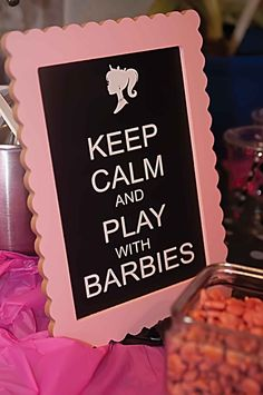 Barbie Party Decorations, Barbie Theme Party, Barbie Birthday Party, 5th Birthday Party Ideas, Girl Birthday Themes, Little Girl Birthday, 8th Birthday, Small Birthday Parties, Barbie Cupcakes