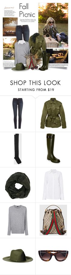 """""""Fall Picnic"""" by thewondersoffashion ❤ liked on Polyvore featuring Paul Frank, Paige Denim, EASTON, Base Range, Yves Saint Laurent, A.L.C., Theory, Gucci, Collection XIIX and Thierry Lasry"""