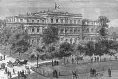 GERMANY New Ducal palace at Darmstadt where Princess Alice died print 1878