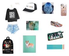 """Teen dog"" by thuc-uyen-vu on Polyvore featuring Casetify, Skechers and Corgi"