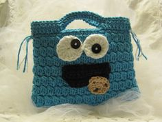 Crocheted  Purse for Children-Cookie Monster Theme