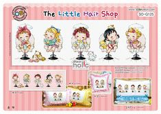 SO-G125  The Little Hair Shop  sodastitch cross stitch chart