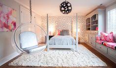Silver Zimba Wallpaper in Modern Bedroom