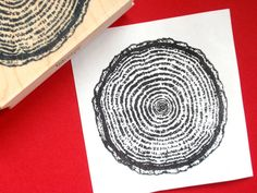 Large Tree Ring Rubber Stamp    I created this fantastic image from a photo of tree rings. I love this stamp so much, I recently stamped fabric to