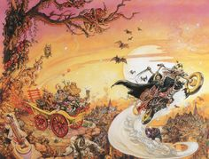 "Josh Kirby - Discworld - ""Soul Music""  My favourite, and the animation on YouTube is great, go watch it!"