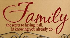 Family Quote the secret to having it all is knowing you already do vinyl lettering ,wall sayings, home decor quote 25 X 12. $20.00, via Etsy.