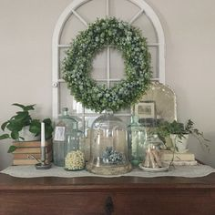 A glass door from an old hutch