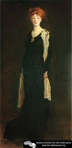 O in Black with Scarf(also known as Marjorie Organ Henri)  Robert Henri