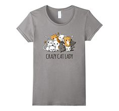crazy cat tshirt women - Womens Crazy Cat Lady Cute Anime Kitty Cat T Shirt XL Slate *** Click image for more details. (This is an affiliate link) #CrazyCats