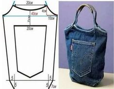 patterns of bags from old jeans: 5 thousand images- выкройки сумок из старых джинсов: 5 тыс изоб… patterns of bags from old jeans: 5 thousand images found in Yandex. Denim Bag Patterns, Dress Sewing Patterns, Denim Purse, Denim Jeans, Bags Travel, Jean Crafts, Refashion, Jean Bag, Blue Jean Purses
