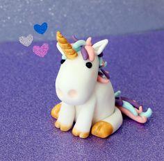 Moldes para Todo: Unicornio paso a paso - Adornos - Unicorne Cake, Cake Cookies, Cake Fondant, Unicorn Party, Unicorn Birthday, Decors Pate A Sucre, Decoration Patisserie, Fondant Animals, Sticky Buns