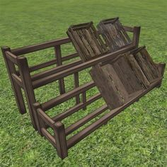 Display Stands with Boxes Rustic/wagon/cart/fruit/vegetables/grain/stall/old/store/shop/village/medieval/dock/wharf