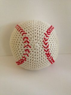 Crochet Baseball- could make these and use on a mobile
