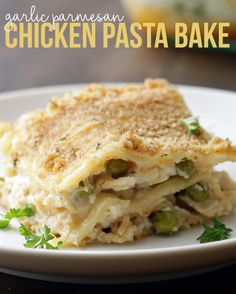 Garlic Parmesan Chicken Pasta Bake