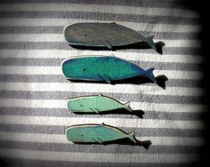 wood whale Great Whale, Surfboard, Fashion Jewelry, Clay, Wood, Handmade, Whales, Crafts, Jewellery