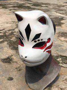 Anbu Kakashi Kitsune masque Kakashi No Mask, Anbu Mask, Mascaras Anbu, Japanese Fox Mask, Cosplay Helmet, Kitsune Mask, Fox Man, Steampunk Mask, Naruto Cosplay