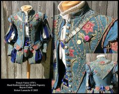 French doublet and paned slops with floral embroidery Elizabethan Costume, Elizabethan Fashion, Renaissance Costume, Medieval Costume, Renaissance Clothing, Renaissance Fashion, Italian Renaissance, Tudor Costumes, Period Costumes