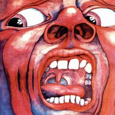 """In The Court Of The Crimson King"" é considerado o primeiro álbum legitimamente progressivo, do início ao fim.  Capa do Disco"