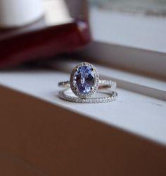 1.96ct Heart white sapphire 14k white gold by EidelPrecious