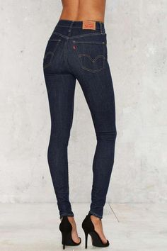 b6a4ec17 Levi's Mile High Super Skinny Jean - Dark Blue - Clothes | Skinny  #WideLegjeansoutfit