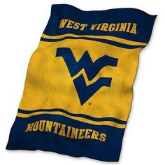 West Virginia Mountaineers NCAA UltraSoft Fleece Throw Blanket (84in x 54in)