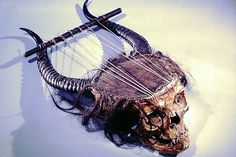 And Now, A Lyre Made From A Human Skull.  A little too grim?