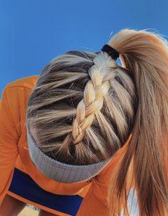 tutorial videos diy lovely hairstyle hairdo braid gorgeous stunning perfect hair… - Makeup İdeas For Wedding Athletic Hairstyles, Softball Hairstyles, Softball Hair Braids, Workout Hairstyles, Running Hairstyles, Volleyball Braids, Cute Braided Hairstyles, Cute Simple Hairstyles, Cute Sporty Hairstyles