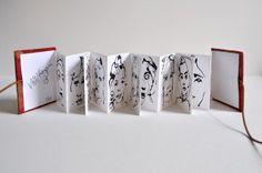 accordion fold mini book