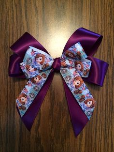 Handmade Sophia the First Bow Barrette by wickedhoule on Etsy, $8.00