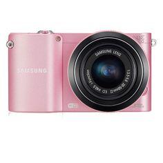 Samsung 20.3 MP Compact Camera EV-NX1000BJPUS (Pink) :::    20.3MP APS-C Sensor  8 Frames Per Second  1080P Full HD Stereo Movie Recording  Instant Sharing via Wi-Fi