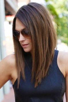 Dunkle haare halblang