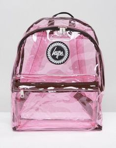 Buy Hype Transparent Pink Backpack at ASOS. Get the latest trends with ASOS now. Unique Backpacks, Cute Backpacks, Mini Backpack, Backpack Bags, Cute Purses, Purses And Bags, Fashion Bags, Fashion Backpack, Hype Bags