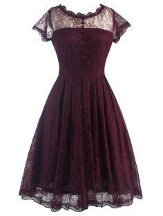 Retro Lanciness Back V Dress For Women
