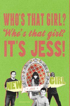 Hey girl, Whatcha' doing? Hey girl, Where you going? Who's that girl? (Who's that girl?!) Who's that girl? (Who's that girl?!) It's Jess! #newgirl