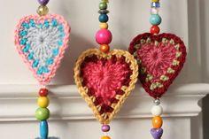 Boho Hearts Motif By Sandra Paul - Free Crochet Pattern