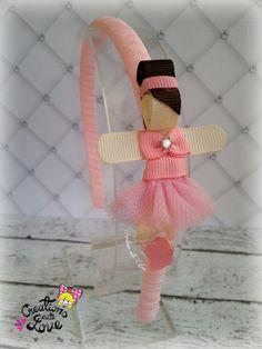 Items similar to Ballerina Ribbon Sculpture Headband. on Etsy Ribbon Art, Ribbon Hair Bows, Diy Hair Bows, Ribbon Crafts, Baby Girl Hair Bows, Girls Bows, Baby Headbands, Rainbow Loom Charms, Diy Braids