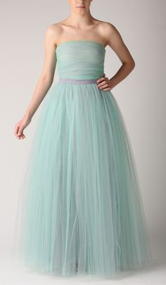 Grey&mint tulle corset and skirt by Fanfaronada