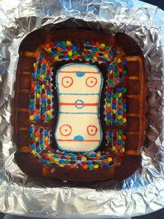 Birthday cake hockey rink Birthday Ideas, Happy Birthday, Birthday Cake, Fun Food, Good Food, Hockey Party, Cupcake Cakes, Cupcakes, Crazy Cakes