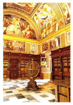 Biblioteca do Escorial (arredores de Madrid), Espanha.