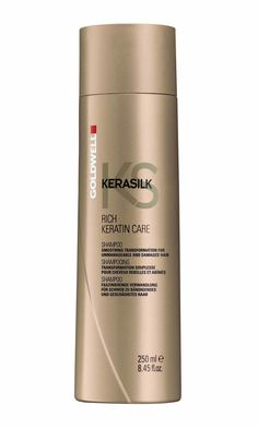 Goldwell KERASILK RICH KERATIN CARE SHAMPOO 8.5 oz / 250 ml smooth soft hair  #Goldwell