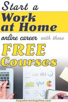 Free courses are a great way to test the waters and find the perfect online business for you. So many online career and work at home choices for side hustles or full time income, but which ones are right for you? As a stay at home mom or a full time employee, you have different needs and skills. Online Work From Home, Work From Home Business, Business Ideas, Online Business, Online Careers, Online Jobs, How To Get Money, Make Money Online, Bookkeeping Business