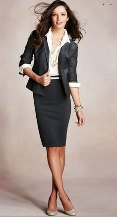 I love Fresh Fashion: 50 Amazing Women's Business Fashion Trends - Business Attire Business Dresses, Business Outfits, Business Attire, Office Outfits, Business Fashion, Business Women, Business Formal, Work Outfits, Business Casual