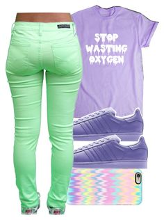 """""""Stop Wasting Oxygen """" by arkaycia ❤ liked on Polyvore featuring Casetify and adidas"""