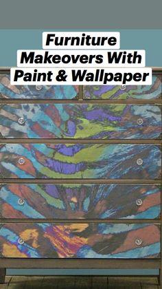 Restoring Furniture, Paint Furniture, Furniture Projects, Furniture Makeover, Furniture Design, Diy Projects, Turquoise Wallpaper, Painting Wallpaper, Classic Interior